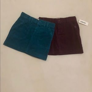 2 old navy corduroy skirts with a adjustable waist